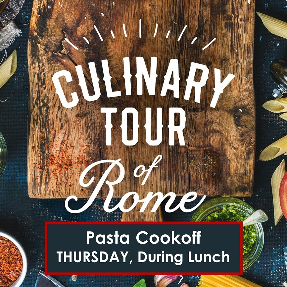 THURSDAY - Come partake in our monthly cookoff #italianstyle. It all happens at lunch! pic.twitter.com/mjny1dSZGz