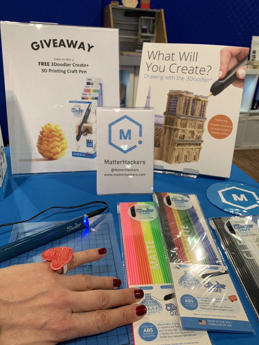 Hey #PLA2020! Head to @MatterHackers booth 1736 to win FREE @3Doodler #3DPrinting pen and create your own bling! ❤️  Also see what's new in #3DPrinters for #libraries including @Zortrax_3D and desktop #cnc from @carbide3d. @ALALibrary @ALALibrary @ALA_PLA #makerspace #libraries