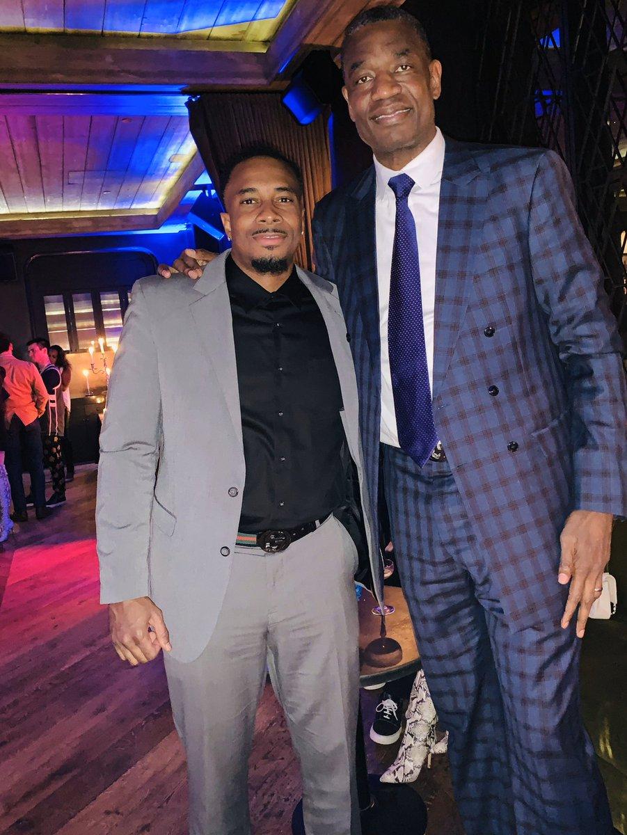 NBA AllStar Weekend Recap. He makes me look short. #Mutombo #nbaallstarweekend #2k20 #nba #chicago