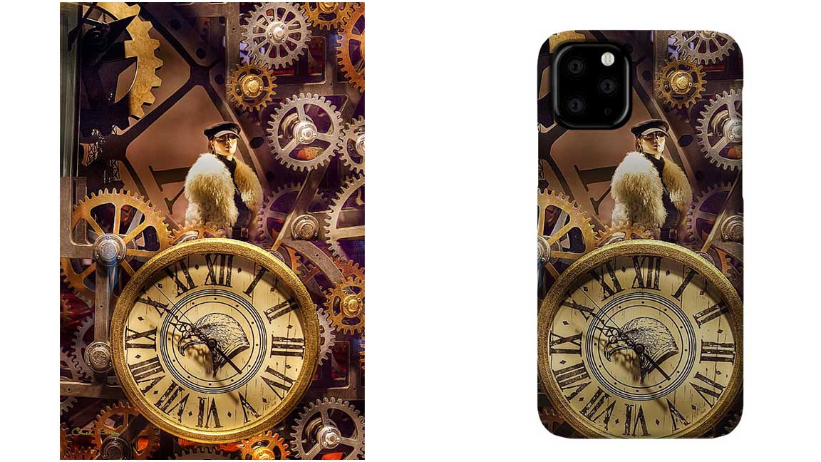 'Timely #Fashions'  #Surreal, #steampunk piece for your man cave. Also a great piece to hang in a men's or women's clothing store, don't you think? Looks great printed on metal and on an #IPhone11 Pro Case. https://t.co/nDdTICzOFo  #iPhone11ProMax