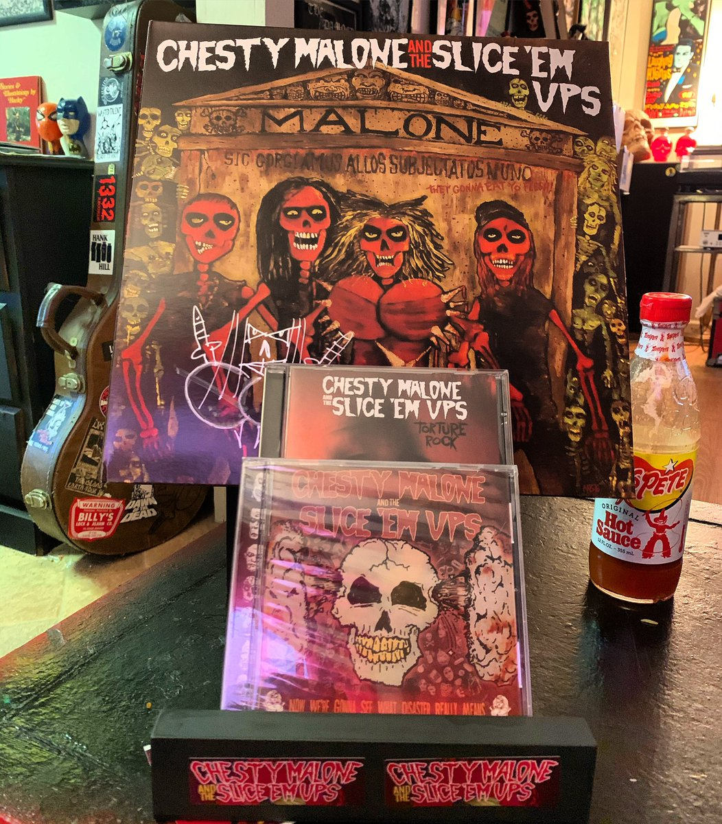 How's your #chestymalone collection looking?! Buy our records/CDs! Link in bio! #chestymaloneandthesliceemups #thrashpunk #metalpunk #satanicbrooklynscum #bandmerch #supportindependentartistspic.twitter.com/xP1nJsEqbx