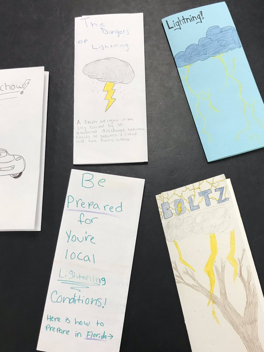 These student made brochures create awareness on how to stay safe during severe weather events #onehurricane <br>http://pic.twitter.com/NusRnF5tSR