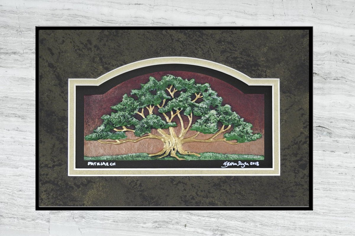 Patriarch - Cast Paper - Oak Tree - Spreading Oak - Great Oak - Landscape - Father's Day http://tuppu.net/c34ce428  #giftideas #Art #CustomMatspic.twitter.com/zDFbTVFXvo
