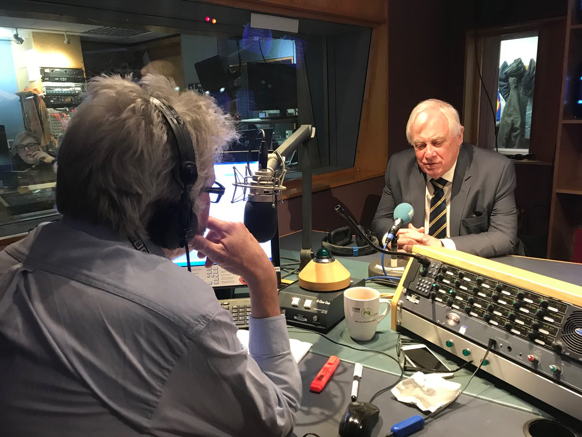 Lord Chris Patten is in studio with Conor - he's taking part in a live Q&A at Belfast City Hall tonight