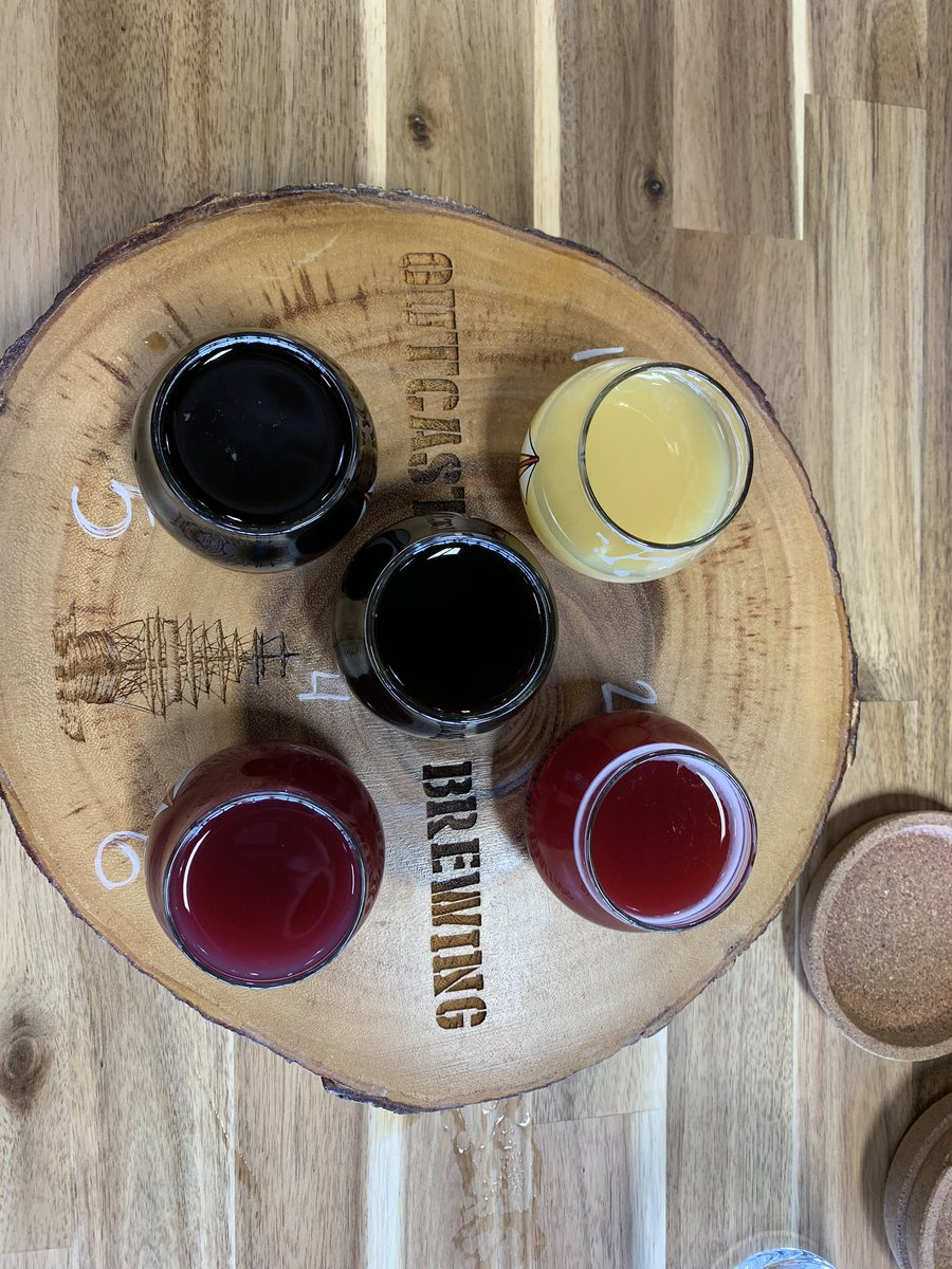 Has the pleasure of finally getting to @outcast_brewing 's taproom. What's a beautiful array of colours in the beer!  Great Sunday Funday stop. #DRINKlocaldrinkCRAFTpic.twitter.com/ErJl71Z1HT