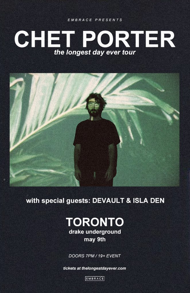 catch @isla_den 🛸 opening for our buds @chetporter and @devaultmusic May 9th in Toronto 🇨🇦