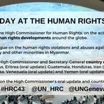 Image for the Tweet beginning: Today the UN Human Rights