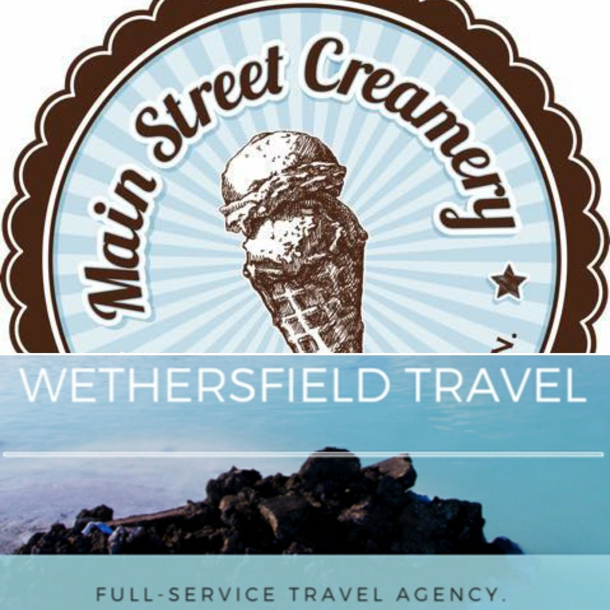 Vendor Spotlight!  Who doesn't scream for ice cream? Main Street Creamery will have ice cream samples Saturday 29th!  Need to get away? Wethersfield Travel will be on hand to book your dream trip!  #oldwethersfield #wedding #icecream #travel #honeymoon #ctweddings #ctbridepic.twitter.com/4uNSTB1St7