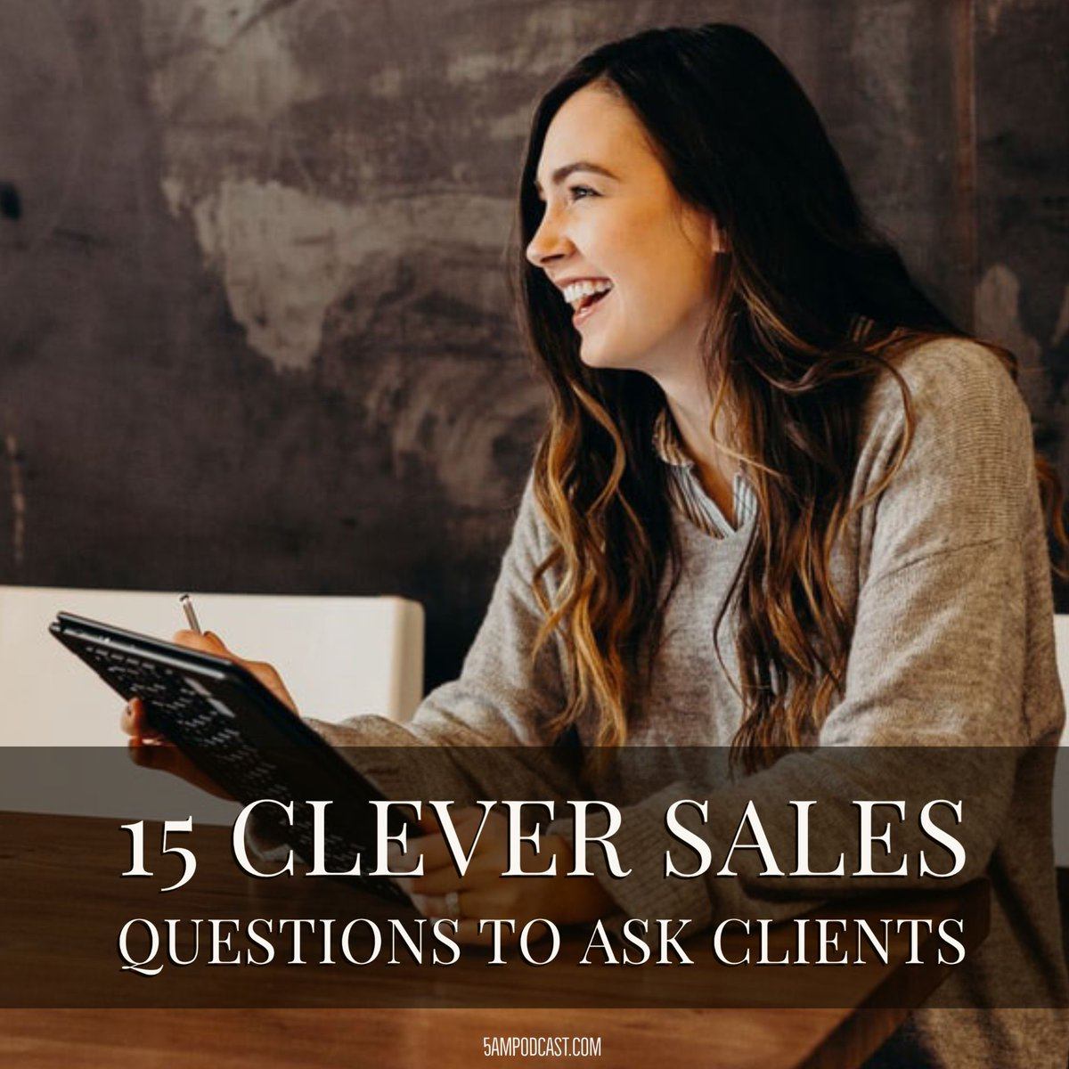 15 clever sales questions to ask clients to help navigate the sales process. Knowing what to do with the answers leads to successful conversations.  #5ampodcast #successful #goals #entrepreneurship #motivation #dontquityourdaydream #businessprinciples  http://bit.ly/3abKB8p pic.twitter.com/lzjMwcD99r
