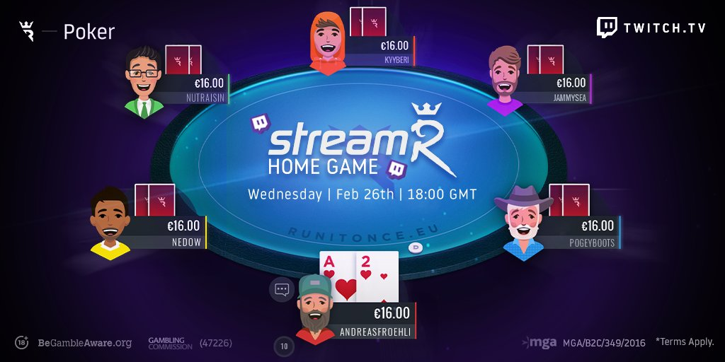 Our streamR Home Game is live! 📺multitwitch.tv/runitoncepoker…