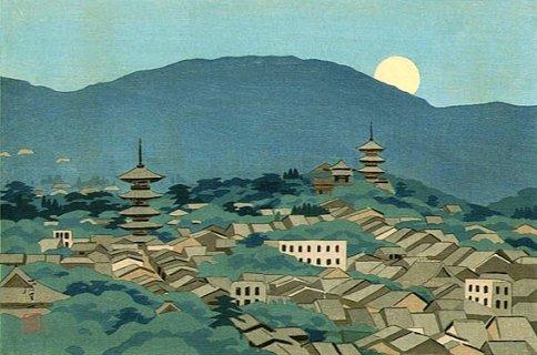 🎨Koichi Okumura Panoramic View of Mt.Higashi 1948