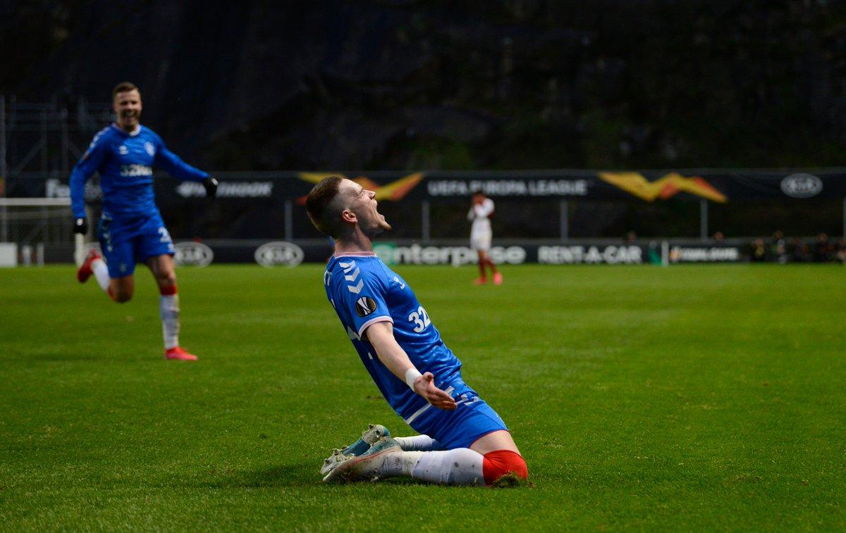 Rangers lead in Braga 👏⚽️ Ryan Kent#UEL