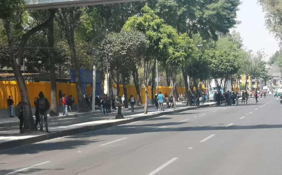 Encapuchados impedían clases en UNAM
