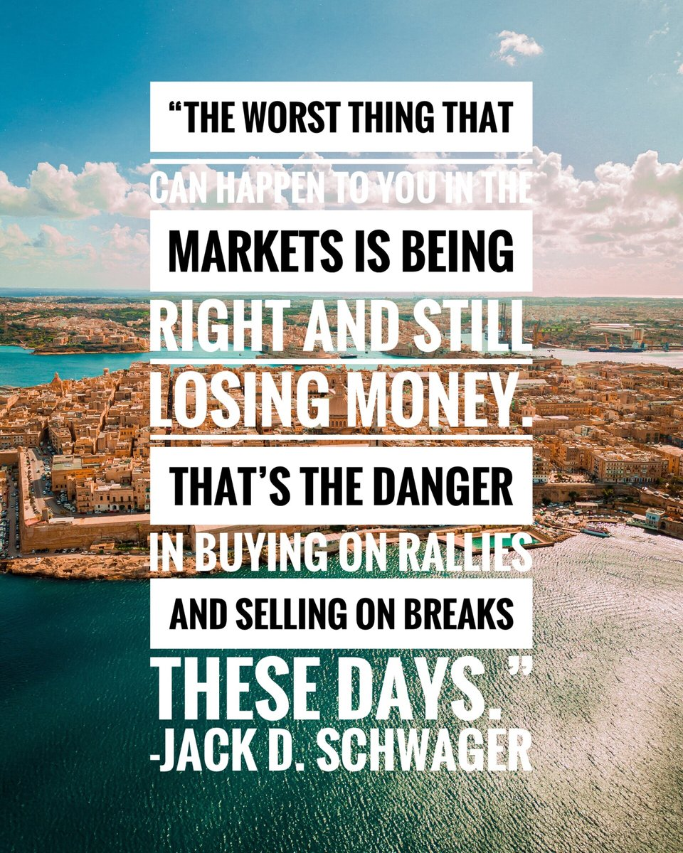 """The worst thing that can happen to you in the markets is being right and still losing money. That's the danger in buying on rallies and selling on breaks these days."" - Jack D. Schwager⁠  #forex #riskmanagement #trading #stocks #trademan #tradingsoftware #cryptopic.twitter.com/WydNqHBbV8"