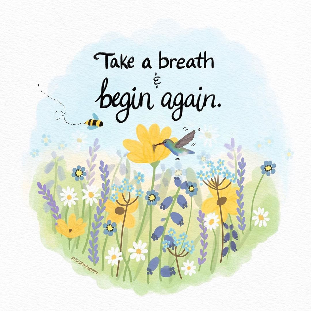 Each new moment is a chance to start afresh. Take a breath & begin again  Image: @colormehappiipic.twitter.com/blb8N6ODsS