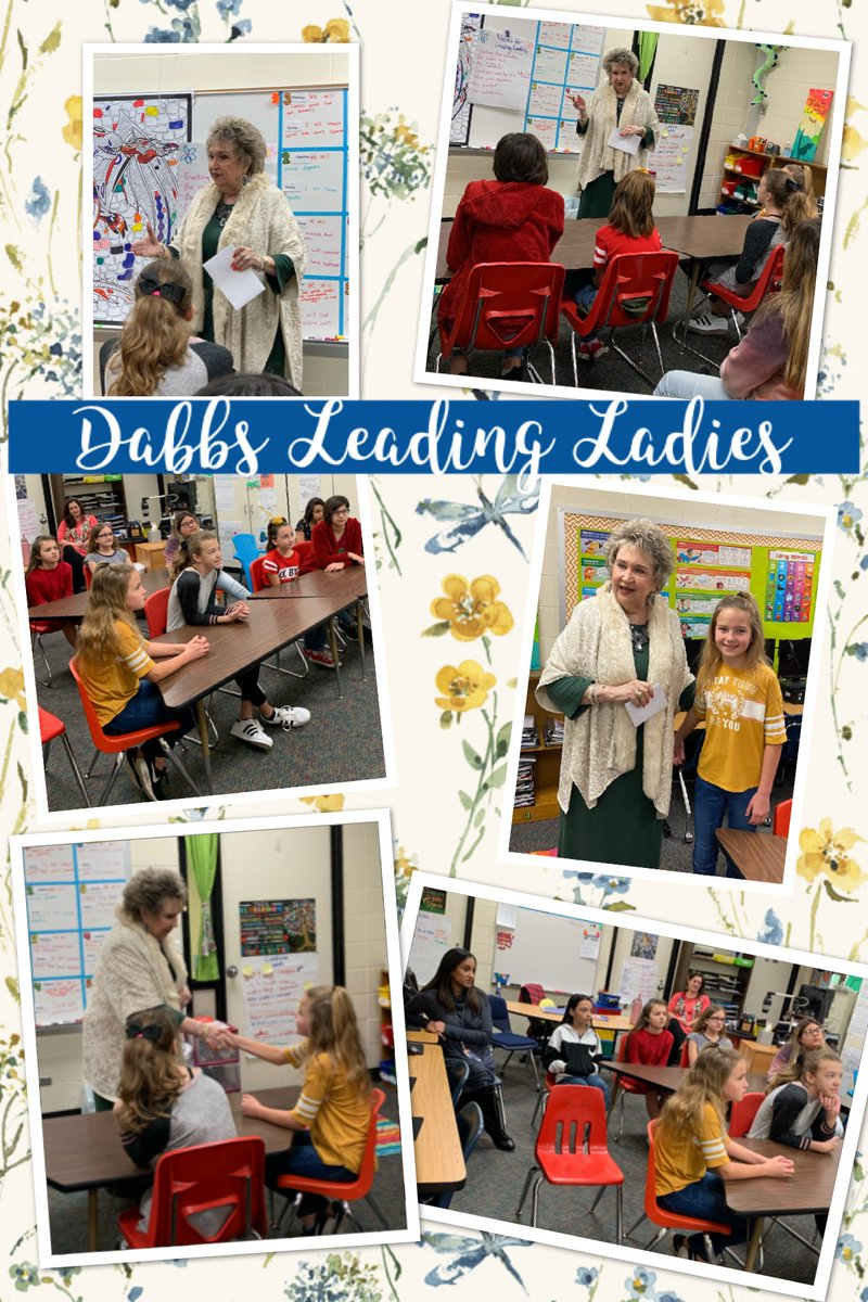 Mrs. McCroskey our Deputy Superintendent of Human Resources came to visit the Dabbs Leading Ladies today.  She discuss the importance of making a good first impression and how etiquette and manners play an integral part. pic.twitter.com/GWhfNDtIbP