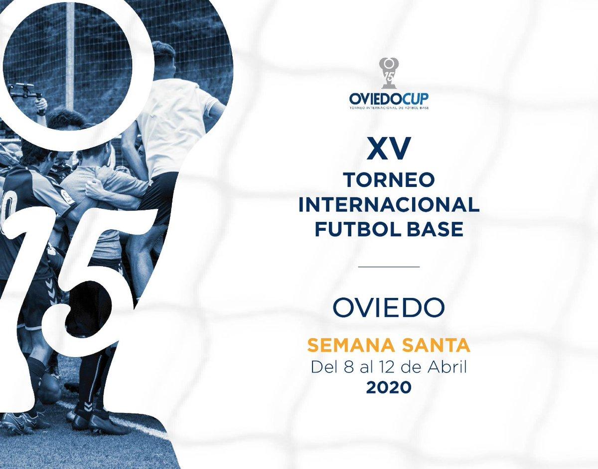 ¿Lo estabais esperando, verdad?  ¡¡¡Os presentamos la imagen de la XV edición de la #OviedoCup2020!!!  Los focos del fútbol base internacional estarán, un año más, sobre Oviedo  Del 8 al 12 de abril (Semana Santa)  #TorneoInternacional #FútboBase #XVEdición #SemanaSantapic.twitter.com/kjR3i8MNt6