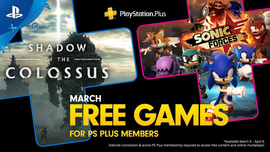 PS Plus Free Games March 2020