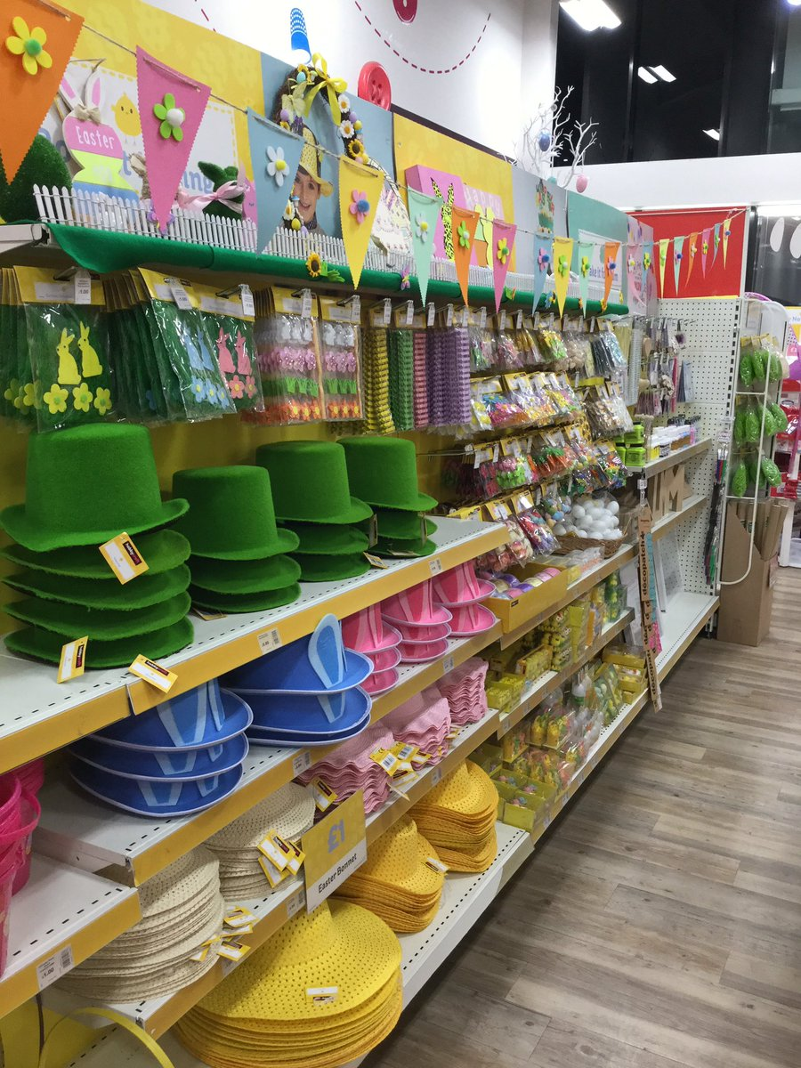 Easter's nearly here! Need to make Easter bonnets? Bring the little ones down today to get your selection of Easter hats and Easter accessories at amazing prices! #easterfunpic.twitter.com/e9smSANJxy