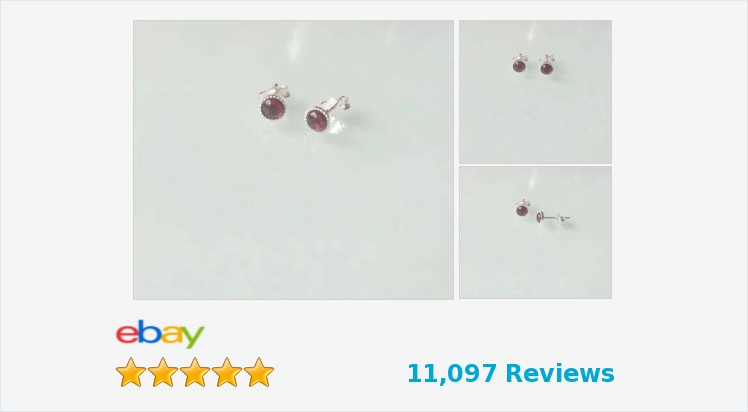 New 925 Sterling Silver & Garnet 5mm Milled Edge round #stud Earrings -boxed   eBay #sterlingsilver #milled #edge #garnet #stud #earrings #jewellery #handmade #gifts #pretty #cute #jewelry #giftsforher #giftideas #giftshop #jewelrylover #jewelryaddict