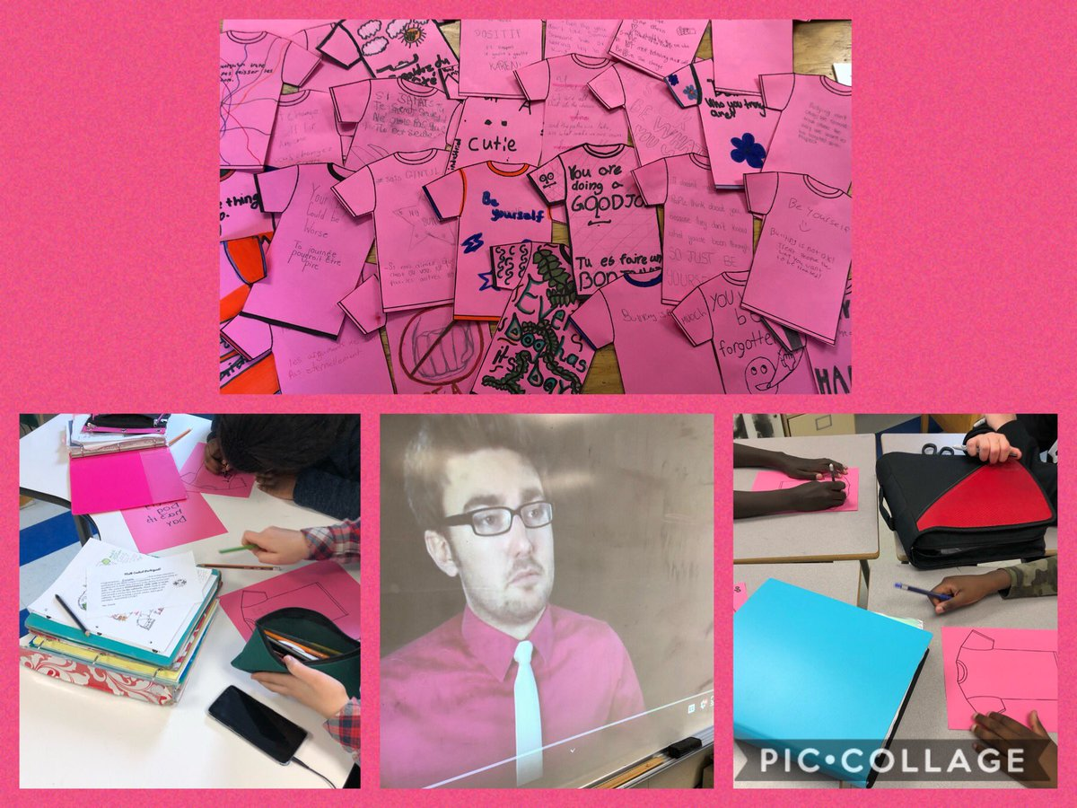 We had some meaningful conversations and thoughtful messages of kindness today! #PinkShirtDay2020pic.twitter.com/NyQYfcFapd