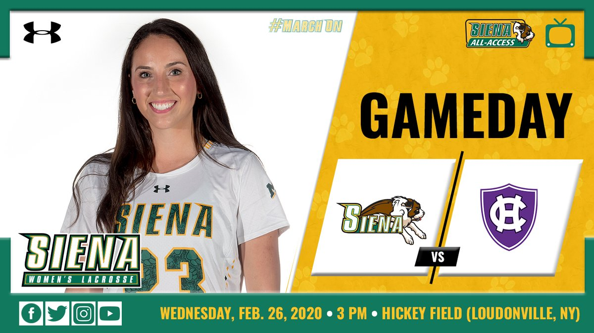 NOW!   The #SienaSaints and Holy Cross go head to head at Hickey Field, with the opening draw moments away!  Follow @SienaWLax for updates!  http://bit.ly/3a8rGLG  #MarchOn #MAACLAX #NCAALAXpic.twitter.com/fMz5N2af3e