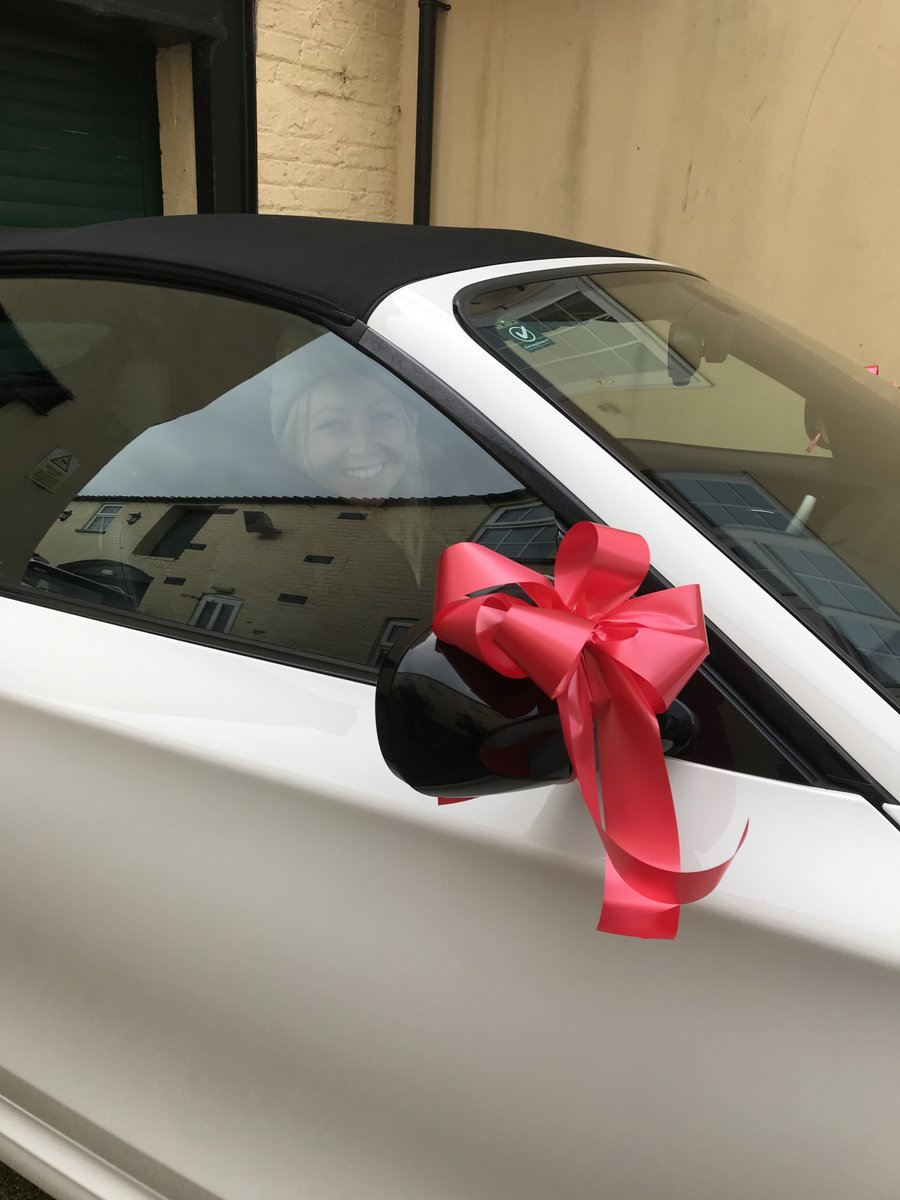 One lucky Lady....and a puppy !!! Thanks to a very thoughtful husband  - Happy Motoring and we appreciate your business over the last 15+ years - Love Team Richtoy  #richtoy #webuycarspic.twitter.com/reScOBXAVs