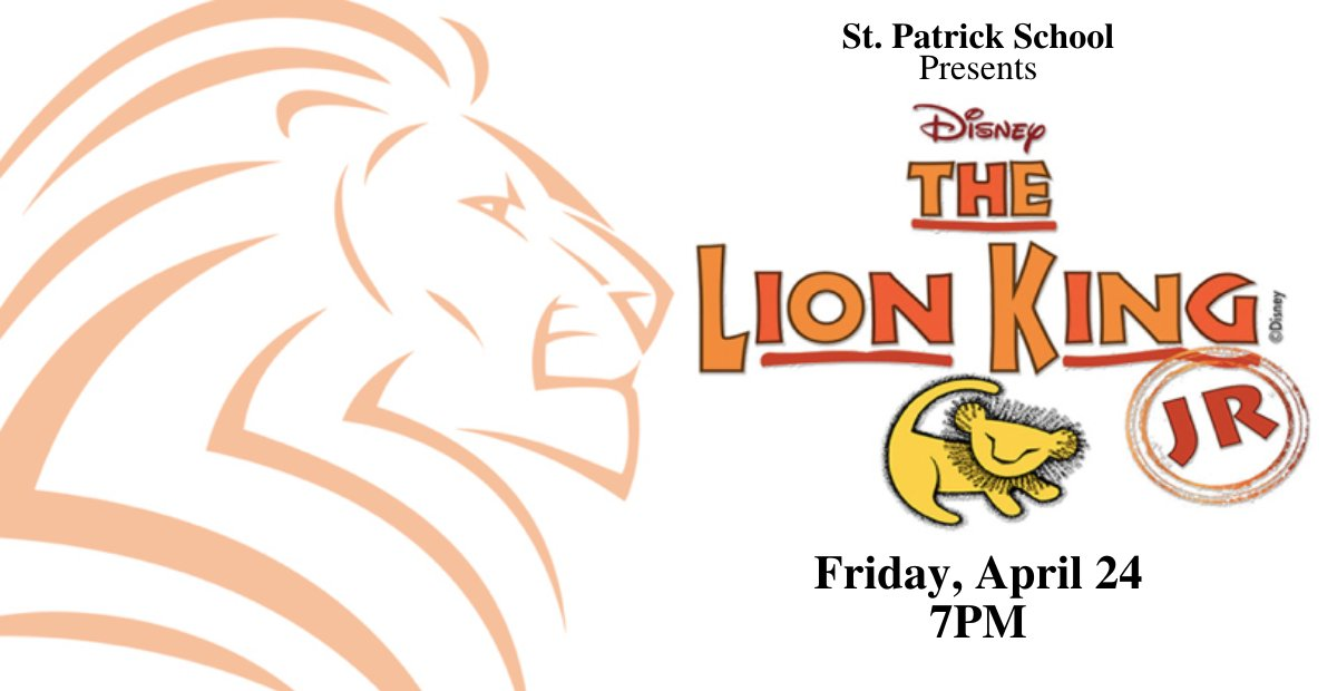 Did you hear about our Grade 8 musical this year? It's Disney's The Lion King Get ready for a great show!⠀Save the date - April 24th! Stay tuned for more updates and information! pic.twitter.com/fN7wyULFd9