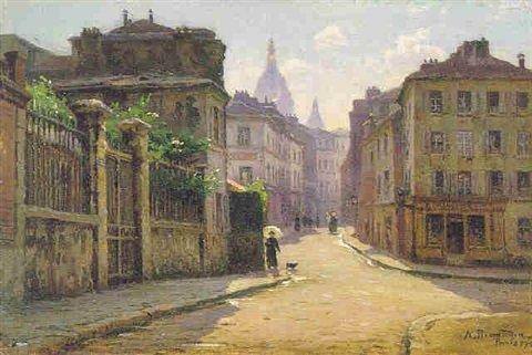 Alfred Renaudin Vue de Montmartre    1916    Paris