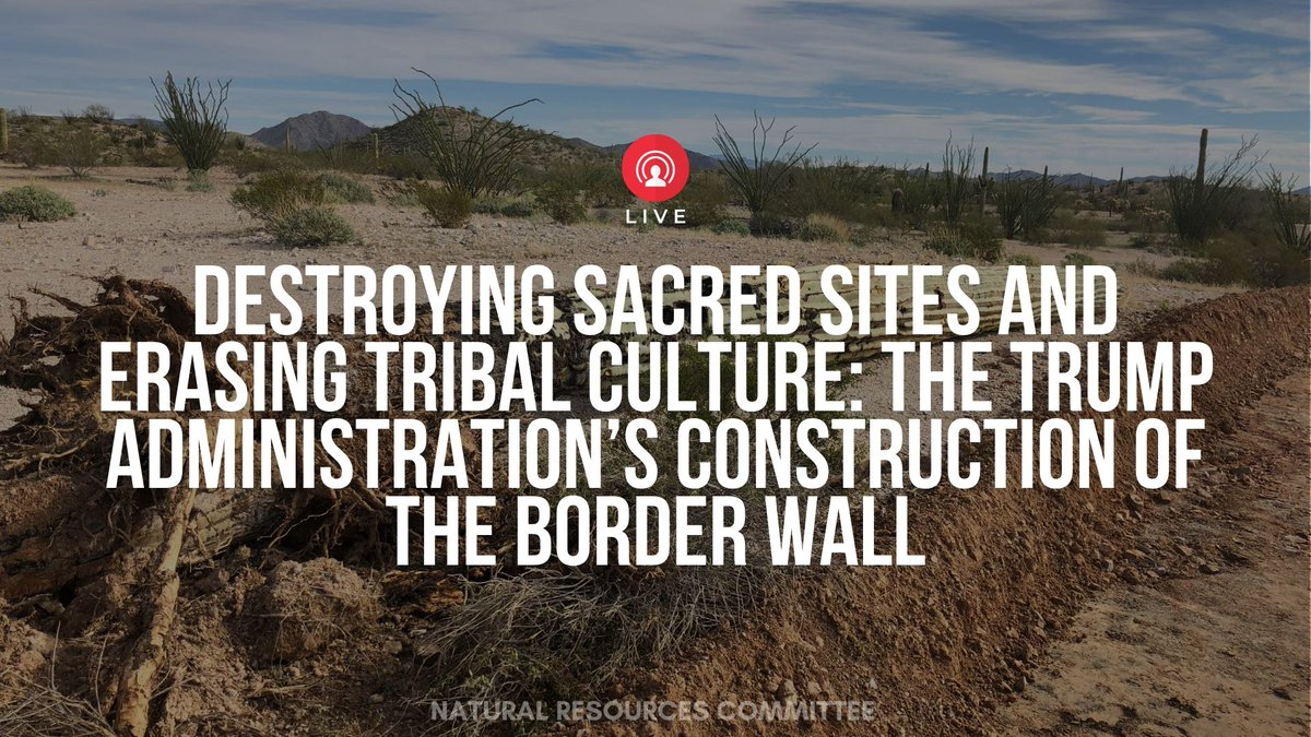 This administration goes out of its way to disrespect indigenous communities. Earlier this month, it destroyed historic burial sites to build its racist border wall.   Tribes deserve prior consultation & meaningful involvement. Watch us #HonorTheSacred➡️ http://bit.ly/3a2qWrc