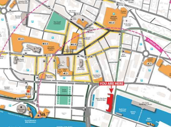 Image for Worried about finding your way around during #SBNSDundee2020 Meeting? Our handy Dundee map will keep you right https://t.co/ozJW6xgVHB  @The_SBNS  @DundeeAngusCB https://t.co/16bPXsJUXH