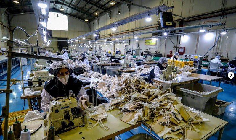 خطوط تولیدی مواد ضدعفونیکننده و ماسکهای فیلتردار در صنایع وابسته به وزارت دفاع و پشتیبانی نیروهای مسلح