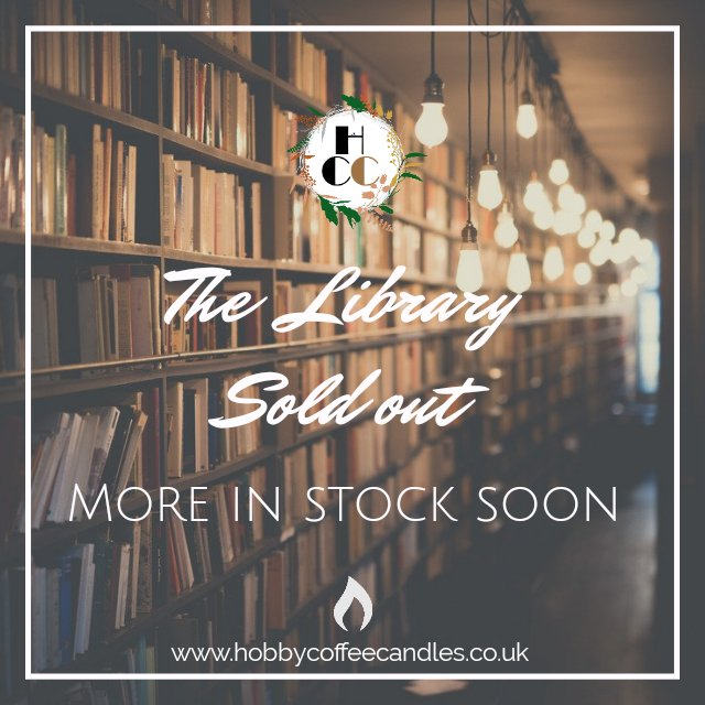 The Library, currently sold out, back in stock soon. http://www.hobbycoffeecandles.co.uk #candlesncrafts #veteranowned #etsy #CraftBizParty #SBS #SmallBiz  pic.twitter.com/55RG0BhTaK