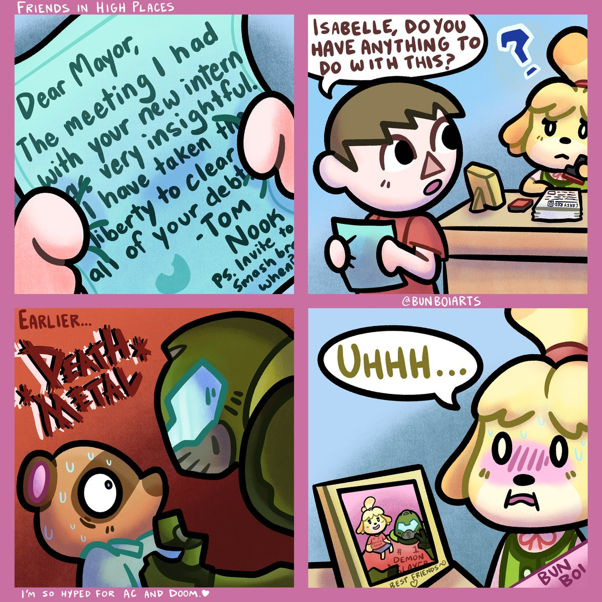 Jakey Boi On Twitter I Love Animal Crossing And Also I Love Doom March 20th Is Going To Be An Awesome