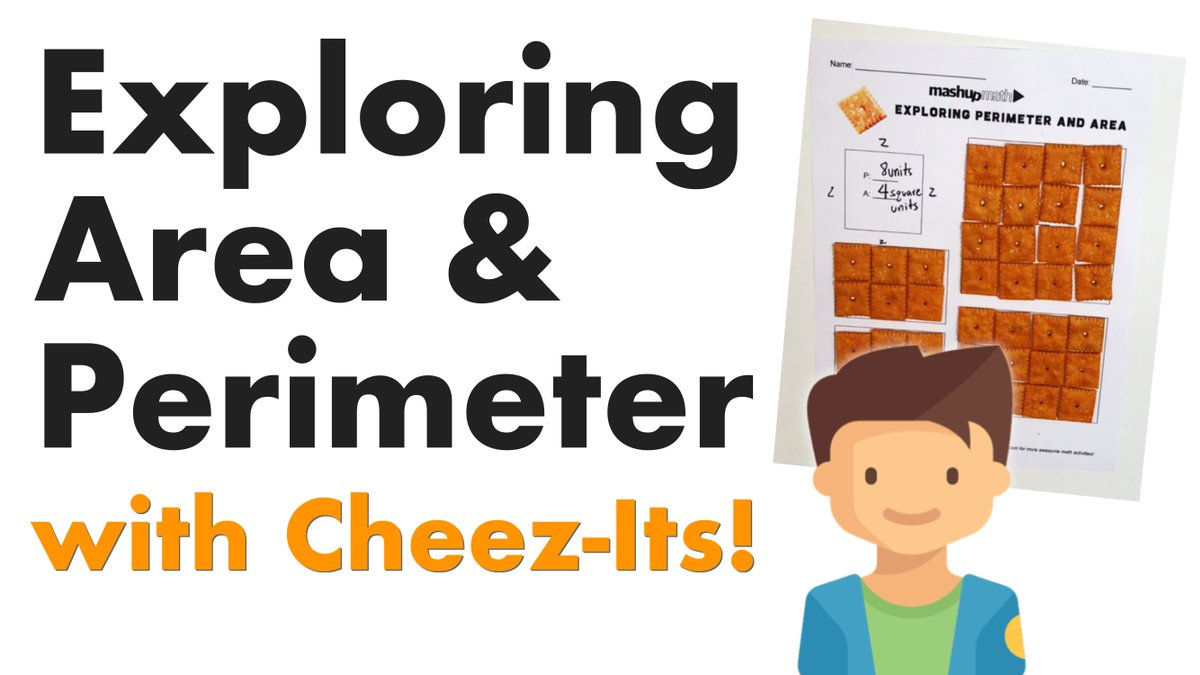 Using Cheez-Its to teach Area and Perimeter (w/ free worksheet)! bit.ly/2uxKyPB