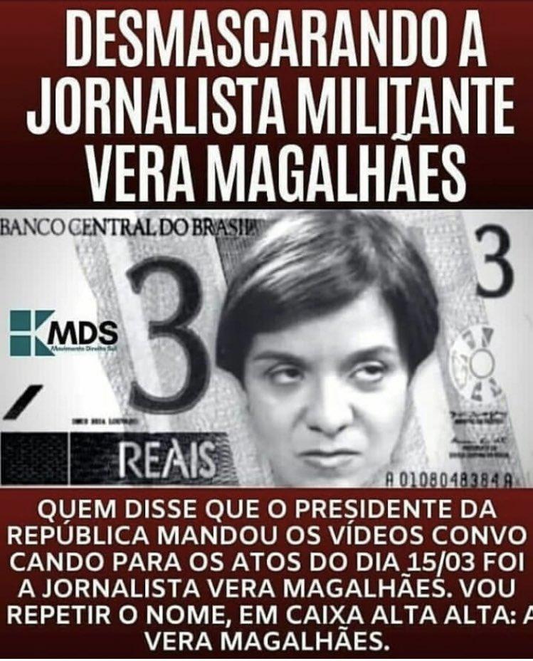 Militante travestida de jornalista! Descrédito total.  @rodaviva caminhando para 0 pontos de audiência.  #VeraFakeNews #VeraMagalhaesMentirosapic.twitter.com/A8f1Quy7Sb