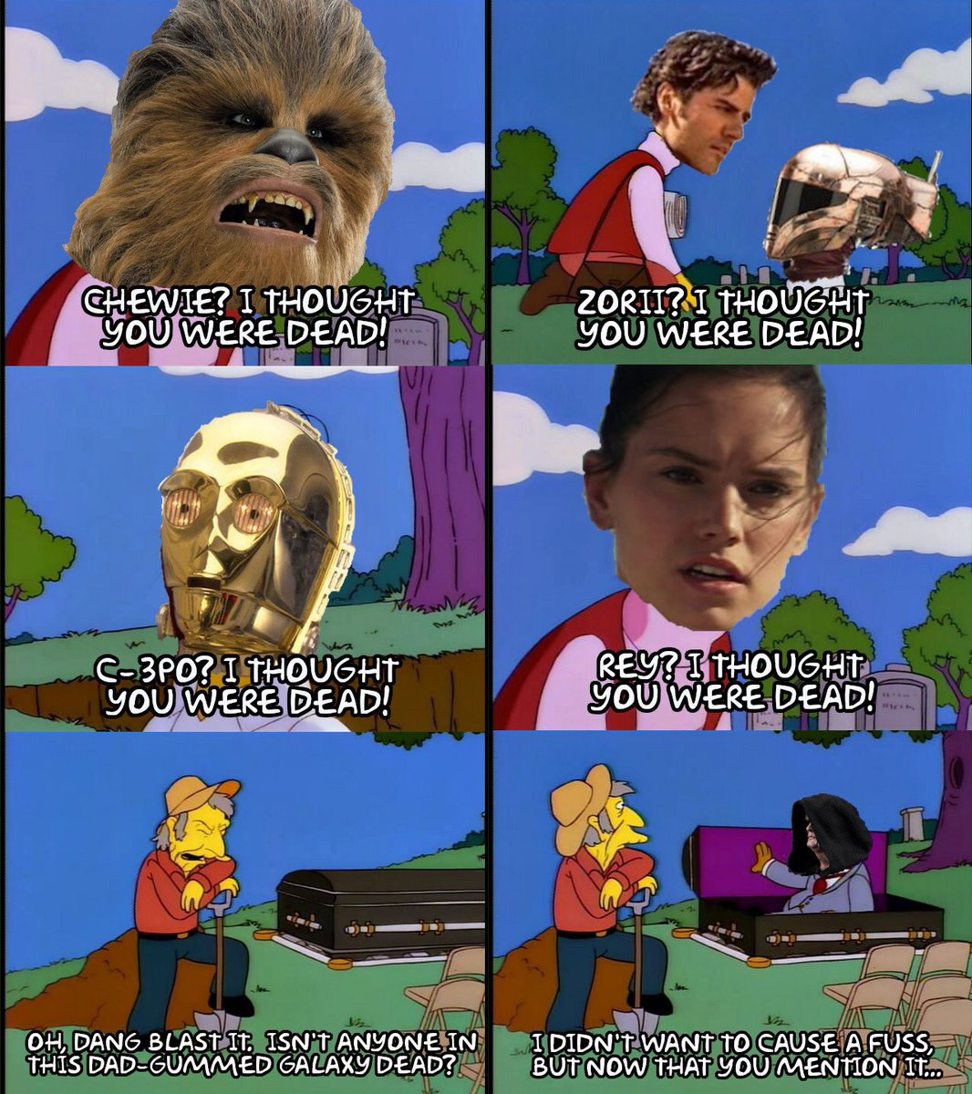 #TheRiseOfSkywalker summed up by #TheSimpsons.