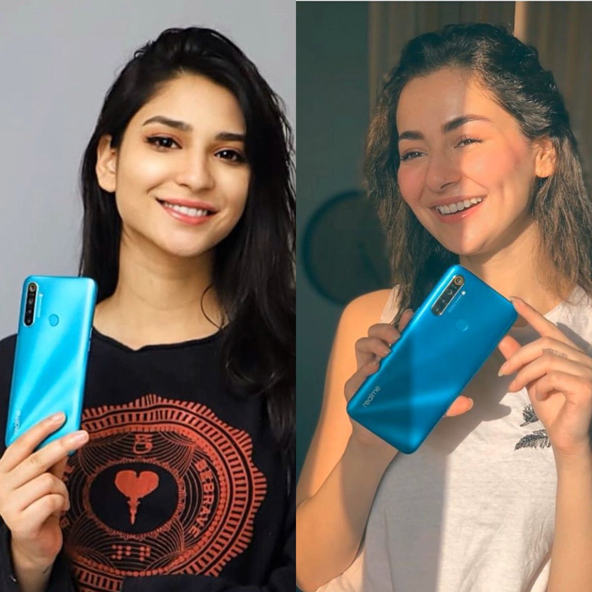 Why yes lets own an Apple and promote this for public, because this how we do, yeah, chilling, laid back, straight stuntin' yeah we do it like that. Its no big deal! #haniaamir #RamshaKhan #realme5i<br>http://pic.twitter.com/3WUR6psolv