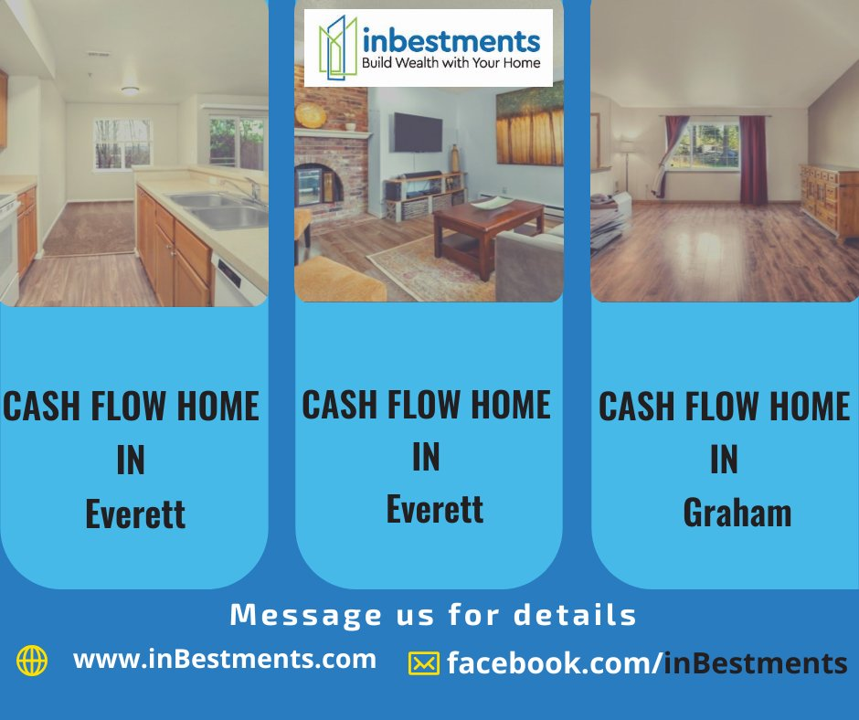 🔥  #Hot #cash-flow #deal in #Everett and #Graham. 💬 Message us here for comprehensive details including comps, funding strategy and more. We can also run your deal scenarios for you. Just email us at Deals@inBestments.co  #success#buildwealth#realestatewealth#realtor