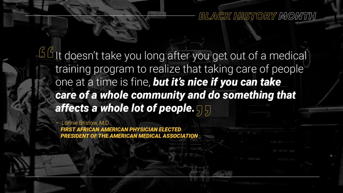 For #BlackHistoryMonth we remember #healthcare pioneers like Lonnie Bristow, thanks for sharing @PremierHA