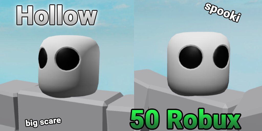 Hollow Roblox Diesoft On Twitter New Spooky Hollow Hat Coming Tomorrow 50 Robux This Hat Serves As A Replacement For Your Standard Roblox Head Hairs Hats And Stuff Like That Should Most Likely Work