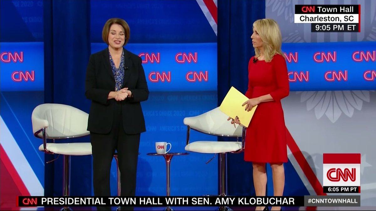 """I would think usually you might put a medical professional in charge."" Amy Klobuchar reacts to President Trump putting Vice President Pence in charge of the effort to prevent a coronavirus outbreak in the US #CNNTownHall"
