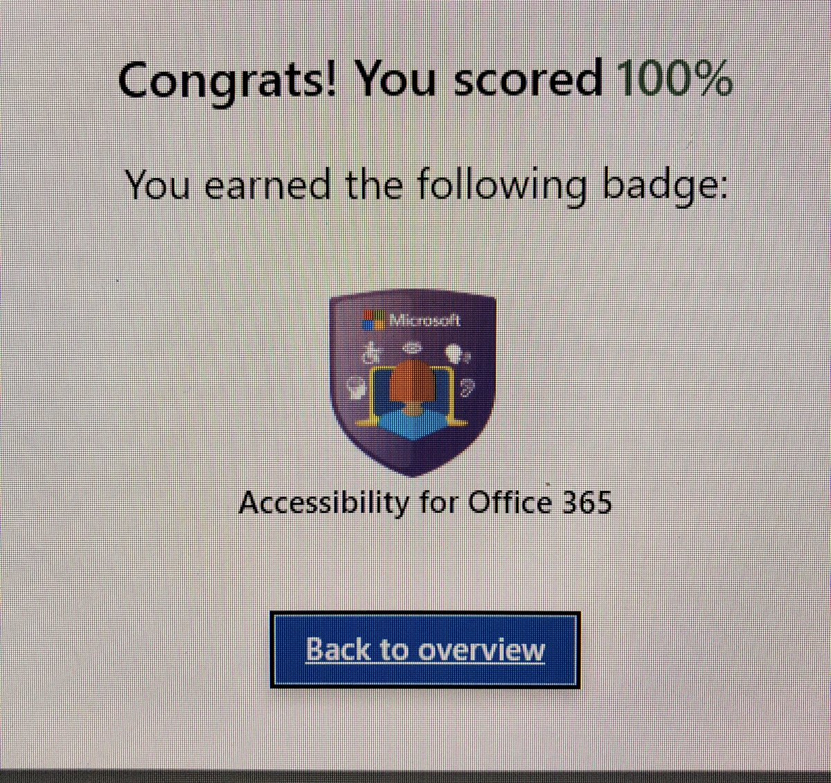 @woythaler #CCSBInnovates Just completed the Training Teachers to Author Accessible Content @MicrosoftEDU