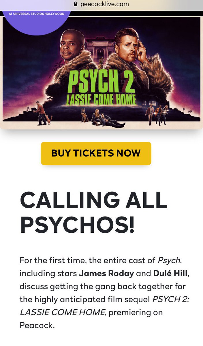Hey PsychOs, check this out! Saw some new and very exciting things on the @peacocklive event page today!!! 🍍🎉 @peacockTV @Psych_USA
