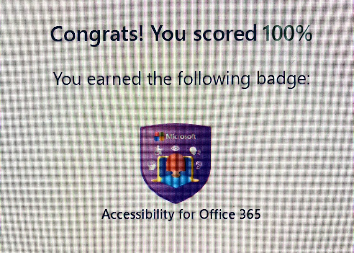 """#CCSBInnovates @woythaler Just finished SWD PD with """"Training Teachers to Author Accessible Content"""" @MicrosoftEDU"""