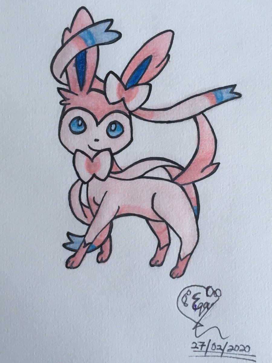 Today is Pokemon Day and my favourite EeveEvolution is Sylveon #Pokemon #PokemonDay #Pokemon2020 #PokemonTrainer #PokemonLover #PokemonArt #EeveEvolutions #Eevee #Sylveon #Kawaii #Drawing #Coloring #Young #Artist #AnimeLover #Anime #Manga #TheMystèreGirlOC #TheMystèreGirlDrawings