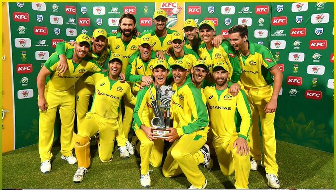 Australia tour of South Africa 3rd T20I(N) @CapeTown,Feb 26 2020  South Africa won the toss & elected to field first  #Australia 🇦🇺 193/5 (20ov) #SouthAfrica 🇿🇦 96 (15.3ov)  Australia won by 97 runs MOM-Mitchell Starc  Australia won the 3-match series 2-1 MOS-Aaron Finch  #SAvAUS