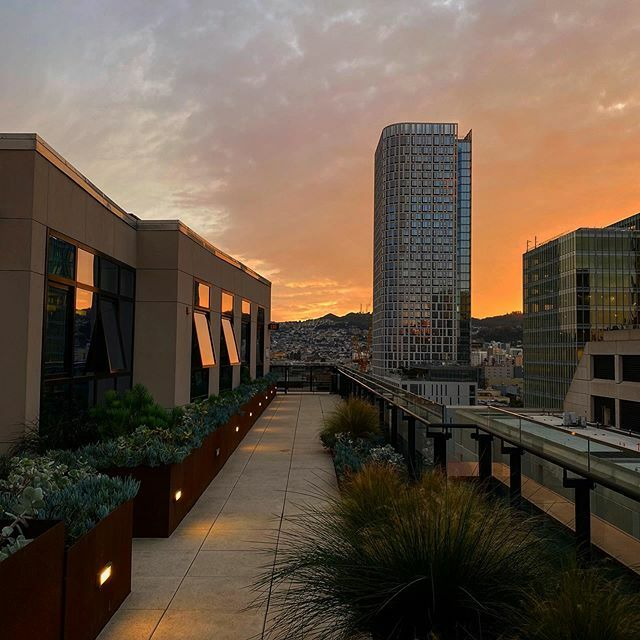 Sunsets should always be like this right? 😍😎 #sunset #soma #sf #nofilter #bayarea #onlyinsf #rooftop