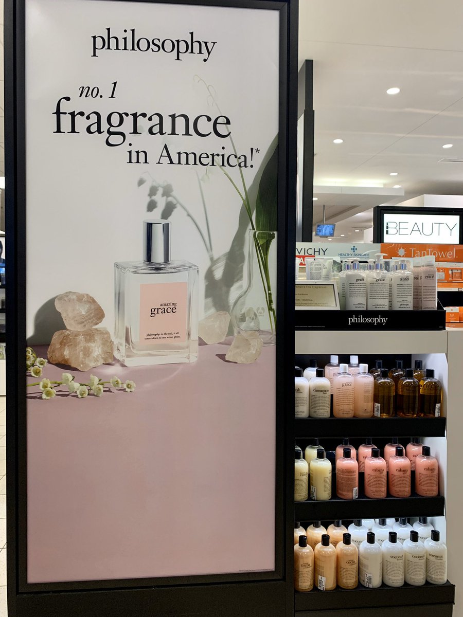 Came across this huge ad while shopping! That's awesome @DebnamCarey I bought a couple and love the floral scent #amazinggracepic.twitter.com/NfUchCW0GG