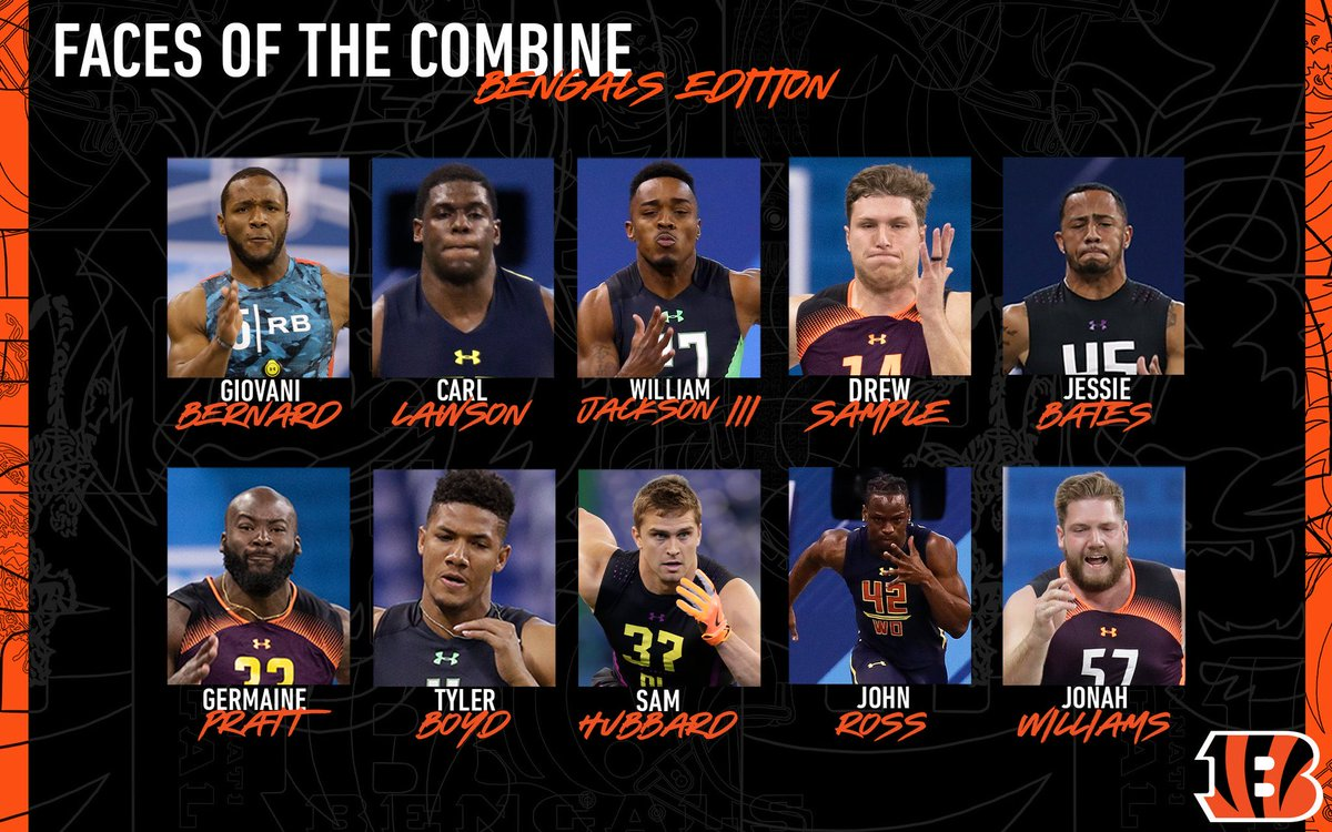 The various @Bengals faces of the @NFL Combine#Bengals #WhoDey #LetsRoar #SeizeTheDEY #NewDEY #NFL #NFL100 #BungleForBurrow #NFLPlayoffs #SuperBowl #NFLDraft